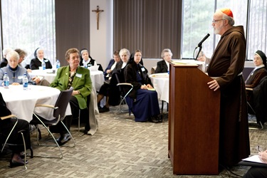 Cardinal Sean O'Malley meets with Major Superiors of Women Religious at the Pastoral Center Feb. 20, 2009.<br /> Pilot photo/ Gregory L. Tracy