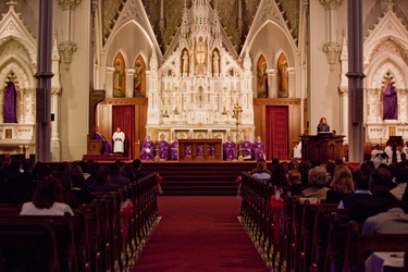 College age Confirmations at Holy Cross Cathedral Saturday March 28.