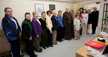 Staff of the food pantry at St. John's in Peabody.