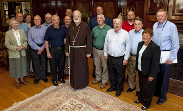 "(08262009)-Dover, MA, Cabinet Retreat Members of Cardinal Seán O'Malley's Cabinet meet at the Connor's Retreat and Conference Center in Dover, MA this past Tuesday and Wednesday. The theme of the retreat was ""Enlivening the Mission of the Archdiocese. Photos by George Martell"