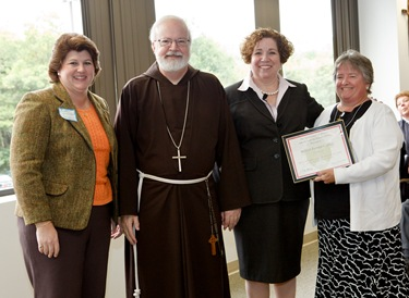 "Secretary of Education and Superintendent of Schools for the Archdiocese of Boston Mary Grassa O'Neill and Cardinal Seán P. O'Malley host a ""Celebration on Education"" for principals and pastors at the archdiocese's Pastoral Center Sept. 16, 2009. Pilot photo/ Gregory L. Tracy"