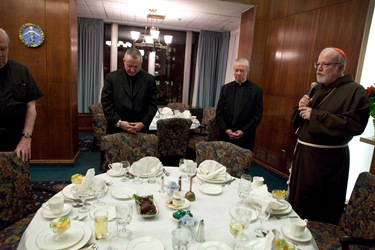 Cardinal O'Malley celebrates Mass at the Regina Cleri retirement residence for priests Jan. 14, 2009. Pilot photo/ Gregory L. Tacy