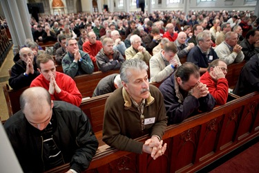 Boston Catholic Men's Conference featuring speakers from EWTN's 'Crossing the Goal', April 17, 2010 at the Cathedral of the Holy Cross in Boston. Pilot photo/ Gregory L. Tracy