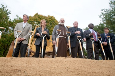 Archdiocese of Boston Planning Office of Urban Affiars groundbreaking ceremony for Rose Hill Manorin Billerica,  Oct. 20, 2010. Photo by Jim Lockwood, The Pilot