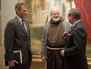 2. U.S. Senator Scott Brown, Boston Cardinal Sean O'Malley, and Malcolm Rogers, Ann and Graham Gund Director of the Museum of Fine Arts, Boston. Art of the Americas Wing Dedication Ceremony, November 12, 2010 In background: Charles Stewart, Sixth Marquess of Londonderry, Carrying the Great Sword of State at the Coronation of King Edward VII, August, 1902, and Mr. W. C. Beaumont, His Page on That Occasion John Singer Sargent (American, 1856–1925) 1904 Oil on canvas * Gift of an American Private Collector and Museum purchase with the generous assistance of a Friend of the Museum, and the Juliana Cheney Edwards Collection, M. and M. Karolik Fund, Harry Wallace Anderson Fund, General Funds, Francis Welch Fund, Susan Cornelia Warren Fund, Ellen Kelleran Gardner Fund, Abbott Lawrence Fund, and funds by exchange from a Gift of John Richardson Hall, Bequest of Ernest Wadsworth Longfellow, Gift of Alexander Cochrane, The Hayden Collection—Charles Henry Hayden Fund, Anonymous gift, and Bequest of Maxim Karolik. *Museum of Fine Arts, Boson *Photograph © Museum of Fine Arts, Boston