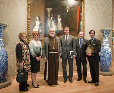 5.JoAnn McGrath, Trustee for the Highland Street Foundation; Penny Vinik;, Boston Cardinal Sean O'Malley; U.S. Senator Scott Brown; Malcolm Rogers, Ann and Graham Gund Director of the Museum of Fine Arts, Boston; and Damien DeVasto. Art of the Americas Wing Dedication Ceremony, November 12, 2010 In background: The Daughters of Edward Darley Boit John Singer Sargent (American, 1856–1925) 1882 Oil on canvas *Gift of Mary Louisa Boit, Julia Overing Boit, Jane Hubbard Boit, and Florence D. Boit in memory of their father, Edward Darley Boit *Museum of Fine Arts, Boson *Photograph © Museum of Fine Arts, Boston