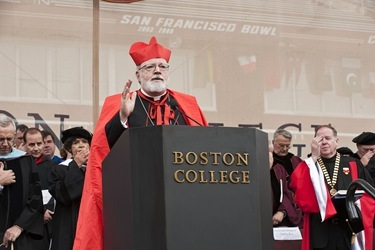 Boston College Commencement, 2011. Archbishop Cardinal Sean O'Malley