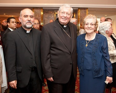 Apsotolic Nuncio Archbishop Pietro Sambi was the guest of honor at the Remptoris Mater Seminary of Boston's second annual gala banquet May 15, 2011. Photo by Gregory L. Tracy