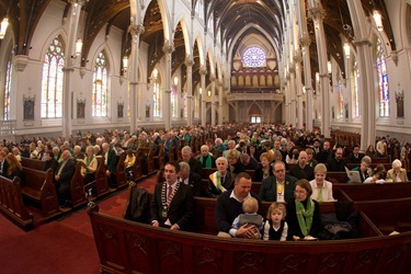 St. Patrick's Day Mass 2012, Cathedral of the Holy Cross. Pilot photo by Gregory L. Tracy