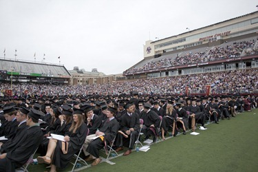 Boston College's Commencement for the class of 2012.