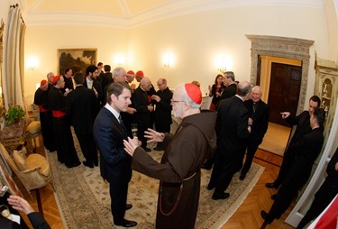 Reception for the American cardinals at the U.S. Embassy to the Holy See, March 1, 2013. Photo by Gregory L. Tracy/ The Pilot