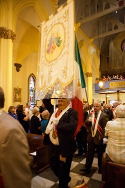 The Feast of the Three Saints celebrated Sept. 1, 2013, Sunday of Labor Day Weekend, at Holy Rosary Church of Corpus Christi Parish in Lawrence. Cardinal Sean P. O'Malley celebrated the Mass to mark the 90th anniversary of the feast.<br /> Photo by Gregory L. Tracy<br />