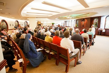 Pastoral Center 5th anniversary, noon Mass Oct. 10, 2013.  Photo by Gregory L. Tracy, The Pilot