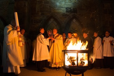 Easter Vigil, celebrated at the Cathedral of the Holy Cross April 19, 2014. Pilot photo/ Christopher S. Pineo