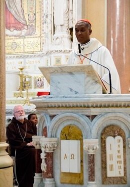 Members of the Haitian community in Boston pack Mission Church for a Mass celebrated by Cardinal Chibly Langlois, the first cardinal from their homeland marking the Feast of Our Lady of Perpetual Help June 22, 2014.  Pilot photo/ Christopher S. Pineo