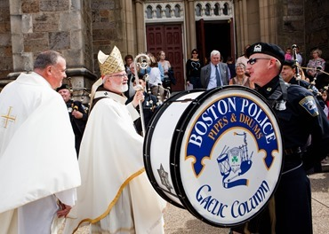 Cardinal Seán P. O'Malley celebrates the Mass for Public Safety Personnel, sometimes called the Blue Mass, at the Cathedral of the Holy Cross Sept. 21, 2014. Pilot photo/ Gregory L. Tracy