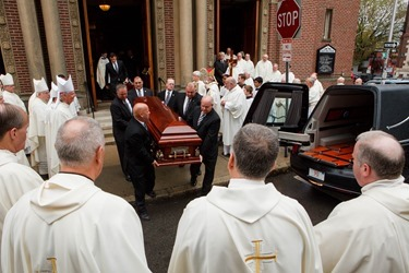 Funeral Mass of Boston Auxiliary Bishop Emeritus John P. Boles, Oct. 16, 2014 at St. Paul's Church in Cambridge, Mass. (Pilot photo by Gregory L. Tracy)