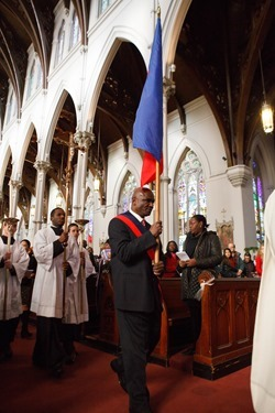 Haitian Independence Day Mass celebrated by Cardinal Seán P. O'Malley with members of the Haitian Community of Boston Jan. 1, 2015 at the Cathedral of the Holy Cross. Pilot photo/ Gregory L. Tracy