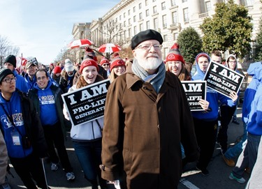 Cardinal Sean P. O'Malley participates in the annual March for Life in Washington, D.C. Jan. 22, 2015. Pilot photo/ Gregory L. Tracy