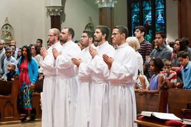 Institution of lectors and acolytes for Redemptoris Mater Seminary at St. Lawrence Church in Brookline June 21, 2015. Photo by Gregory L. Tracy