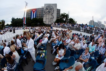 Boston pilgrims attend a Mass celebrated by Pope Francis in Havana's Revolution Square September 20, 2015. Pilot photo/Gregory L. Tracy