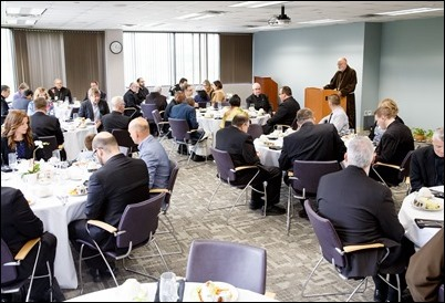 Luncheon for newly ordained priests and their families at the Archdiocese of Boston Pastoral Center May 24, 2017. Pilot photo/ Gregory L. Tracy