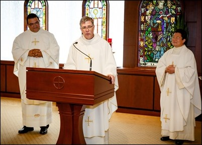Incardination of Fathers John Chen and Eduardo Marques at the Pastoral Center, Sept. 6, 2017. Pilot photo/ Gregory L. Tracy