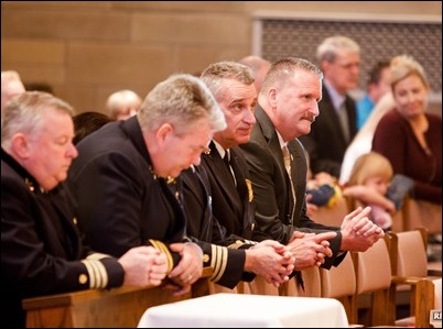 Mass for Public Safety Personnel and their families, celebrated at St. Theresa of Avila Church in West Roxbury, Oct. 1, 2017. Pilot photo/ Gregory L. Tracy