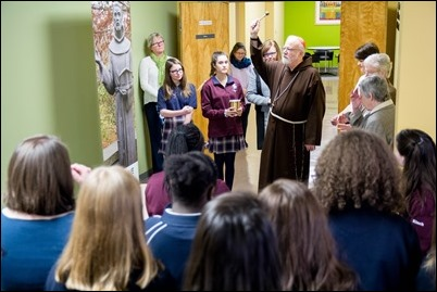 Cardinal O'Malley celebrates Catholic Schools Week with a Mass as Mount Alvernia High School in Newton, Jan. 29, 2018. Pilot photo/ Mark Labbe