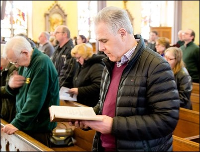 Mass for our Catholic Appeal Commitment Weekend, St. Patrick Church, Lawrence, March 11, 2018. Pilot photo/ Mark Labbe