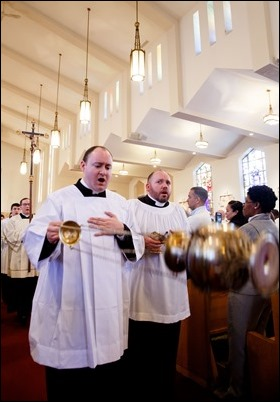 Cardinal Seán P. O'Malley celebrates the annual Chrism Mass at Immaculate Conception Church in Malden, March 27, 2018. Pilot photo/ Gregory L. Tracy