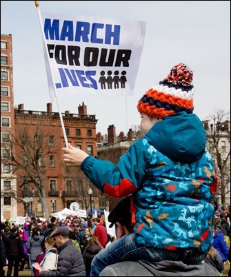 The March for Our Lives rally against gun violence and for school safety on Boston Common, March 24, 2018. Pilot photo/ Mark Labbe