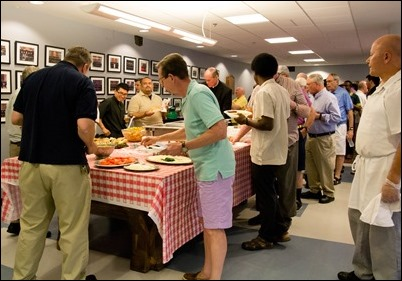2018 Vianney Cookout for priests held at Pope St. John XXIII Seminary August 2, 2018. Pilot photo/ Jaqueline Tetrault