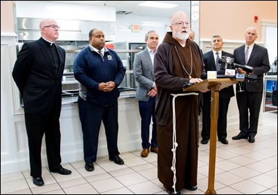 Event to announce that Cor Unum Meal Center in Lawrence is resuming hot meal service. Pilot photo/ Jacqueline Tetrault