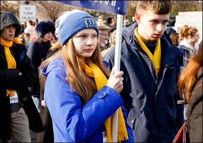 Boston pilgrims take part in the annual March for Life in Washington, D.C., Jan. 18, 2019. Pilot photo/ Gregory L. Tracy