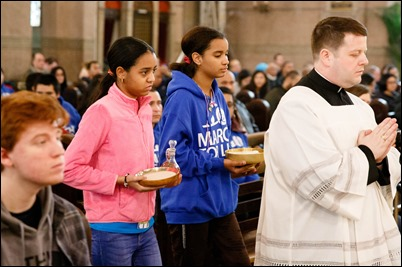 Mass for Boston March for Life pilgrims at the Shrine of the Sacred Heart in Washington, D.C., Jan. 18, 2019. Pilot photo/ Gregory L. Tracy