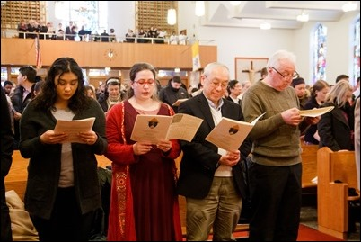 Rite of Election and Call to Continuing Conversion, March 10, 2019 at Immaculate Conception Church in Malden. Pilot photo/ Jacqueline Tetrault