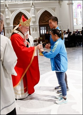Following two years of renovations, the Cathedral of the Holy Cross reopens for regular Masses Palm Sunday, April 14, 2019. Pilot photo/ Gregory L. Tracy