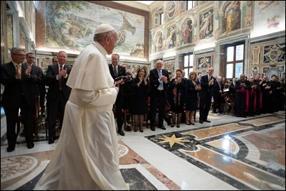 AUDIENCE-VATICAN-PAPAL-FOUNDATION