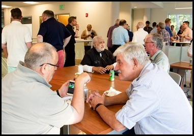 The Vianney Cookout for priests of the Archdiocese of Boston held at Pope St. John XXIII Seminary in Weston, Aug. 1, 2019. Pilot photo/ Jacqueline Tetrault