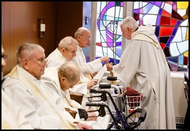 Cardinal Sean P. O'Malley celebrates the Mass for the Dedication of the Altar of the Chapel at Regina Cleri, Aug. 21, 2019.  The Mass marked the completion of a months-long renovation of the chapel. Pilot photo/ Gregory L. Tracy