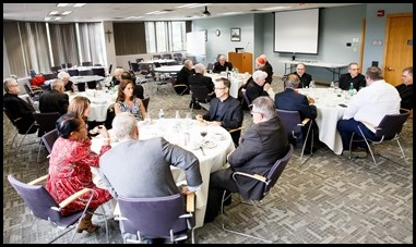 Luncheon for newly retired priests of the Archdiocese of Boston, Sept. 6, 2019 at the Pastoral Center. Pilot photo/ Gregory L. Tracy
