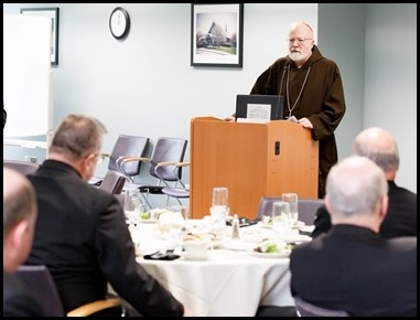 Cardinal O'Malley meets with the Vicars Forane of the Archdiocese of Boston, Sept. 10, 2019. Pilot photo/ Gregory L. Tracy