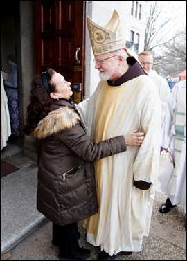 Cardinal Sean O'Malley celebrates Mass for Boston pilgrims to the March for Life at Sacred Heart Shrine in Washington, D.C., Jan. 24, 2020. Pilot photo/ Gregory L. Tracy