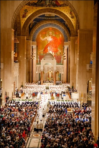 Opening Mass of the Vigil for Life at the National Shrine of the Basilica of the Immaculate Conception, Jan. 23, 2020. Pilot photo/ Gregory L. Tracy