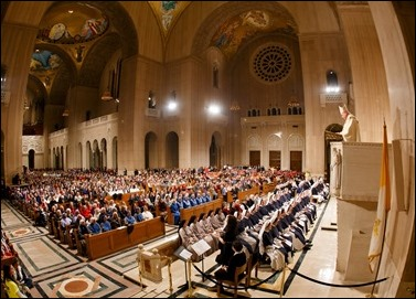 Opening Mass of the Vigil for Life at the Basilica Shrine of the Immaculate Conception in Washington, D.C., Jan. 23, 2020. Pilot photo/ Gregory L. Tracy