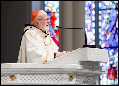 The May 17, 2020 televised Baccalaureate Mass for high school graduates in the Archdiocese of Boston celebrated by Cardinal Seán P. O'Malley at the Cathedral of the Holy Cross. Also addressing the graduates at the end of Mass was Archdiocese of Boston Superintendent of Schools Thomas Carroll. Pilot photo/ Gregory L. Tracy
