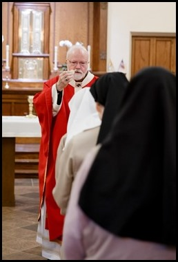 Cardinal Sean P. O'Malley celebrates a Mass to mark his 50th anniversary of priestly ordination Aug. 29, 2020 at St. Clare Monastery in Jamaica Plain. Pilot photo/ Gregory L. Tracy