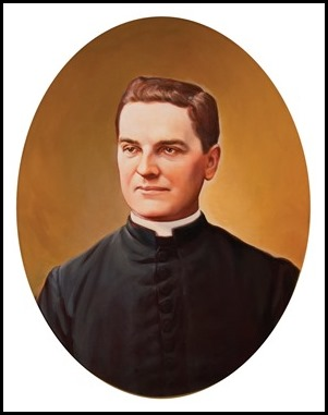 Father McGivney portrait by Chas Fagen, 2016