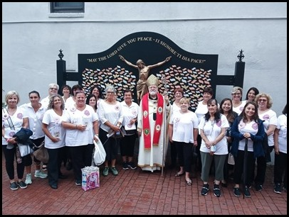 St. Lucy Society members and the Cardinal